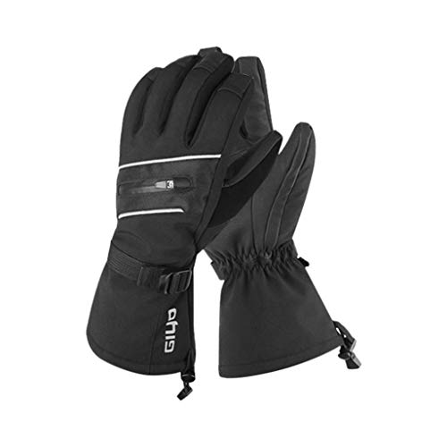 Fine Waterproof Mens Ski Gloves Breathable Windproof Warm Skiing Snowboard Gloves Winter Cold Weather Cycling Riding Glove (Black, S) (Skids Ski Gloves)