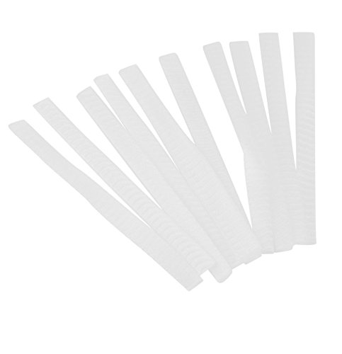 White Make Up Cosmetic Brushes Guards Most Mesh Protectors Cover Sheath Net Without Brush 100 pcs.