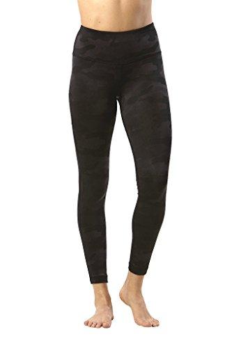 90 Degree by Reflex - Performance Activewear - Printed Yoga Leggings - Etched Camo Black - Medium