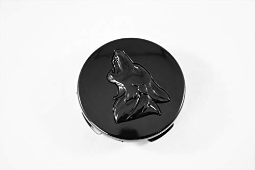 MF Auto Designs Mustang Coyote Logo Wheel Center Caps (Blackout)