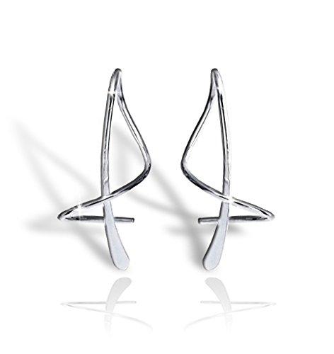 Earspiral tm 1XSSS Earrings Sterling Silver
