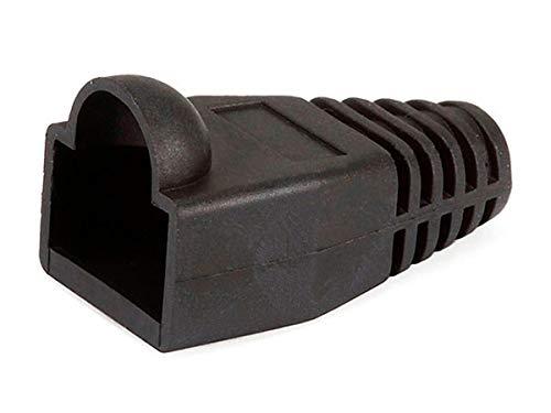 Monoprice [50pcs] RJ-45 Color Coded Strain Relief Boots - BLACK