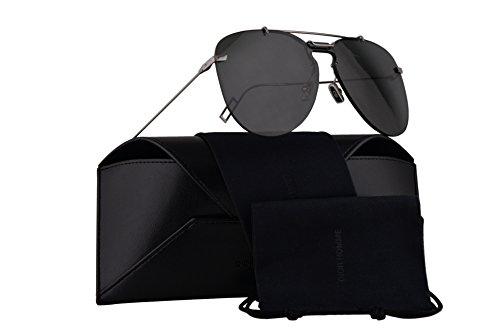 Christian Dior Homme Dior0222S Sunglasses Ruthenium w/Grey Lens 99mm 6LB2K Dior0222/S Dior 0222/S Dior 0222S