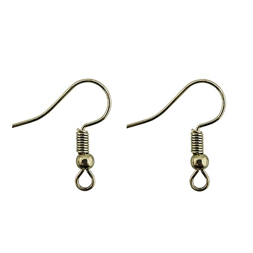 COIRIS 100 Pairs Antique Bronze Color Earwires French Earring Hooks / Dangle Earring Findings Jewelry Making DIY (Antique Bronze Earring Hooks)