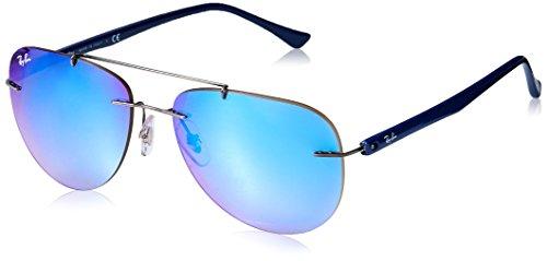 Ray-Ban Men's Titanium Man Non-Polarized Iridium Round Sunglasses, Gunmetal, 57 - Ray Ban Clubmaster Titanium