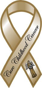 - Cure Childhood Cancer Awareness Ribbon Magnet