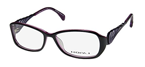 Koali 6920k Womens/Ladies Rxable Hip & Chic Designer Full-rim Eyeglasses/Glasses (53-15-135, Black / - Frames Eyeglass Hip