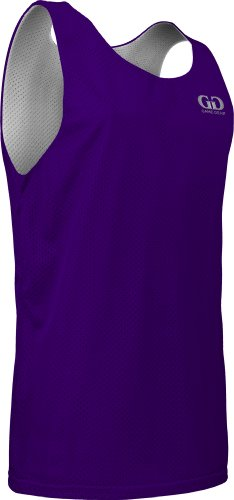 AP993 Men's Tank Top Jersey-Uniform is Reversible to White-Great for Basketball (X-Small, - Practice Tank Top Mesh