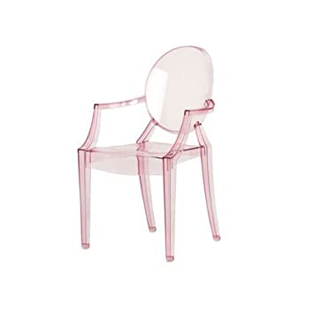 Kartell 2852Y2 Chaise Pour Enfant Lou Ghost Rose Transparent