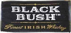 signs-unique Black Bush Whiskey Cotone Bar Asciugamano PP