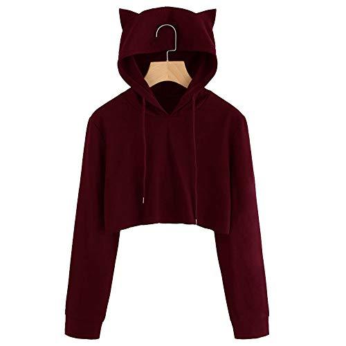 (Cat Ears,Toimoth Womens Cat Hoodie Sweatshirts Long Sleeve Hoodie Sweatshirt Hooded Pullover Tops)
