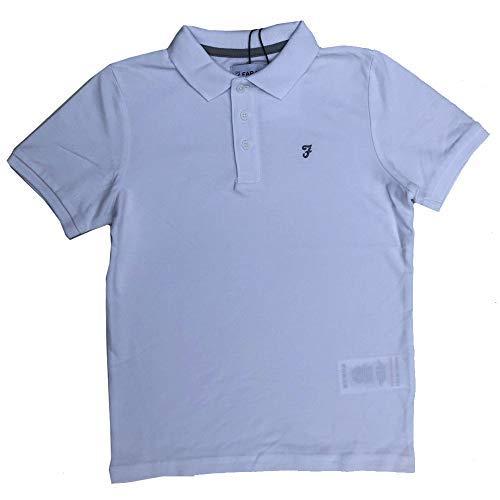 Farah Polo Gar/çon Chemise Blanche T-Shirt /Âges 7 Ans Jusque 15 Ans