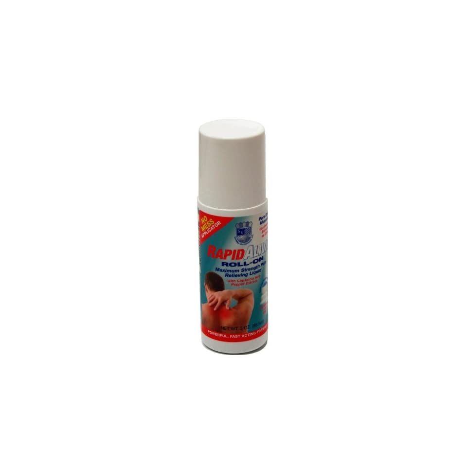 Rapid Alivio Roll On Pain Relieving 3 Oz   Rapid Relief   With Menthol & Capsaicin Hot Pepper Extract for Muscle, Joints, Arthritis Pain Reliever