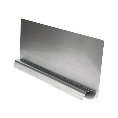 EquipmentBlvd Stainless Steel Insert Type Splash Guard for Compartment Sinks (22