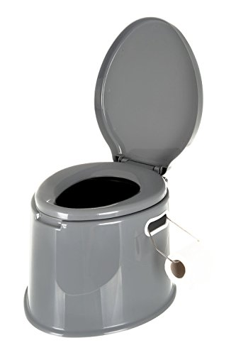 Lightweight and Portable 5L Camping Toilet with Seat, Lid, Handles and Roll...