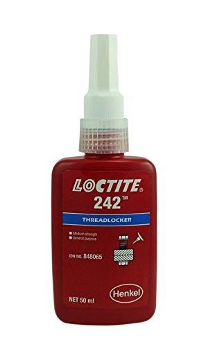 (Genuine Henkel Loctite 242 Medium strength -Medium Viscosity - Threadlock - All Metal Adhesive - Glue 50)