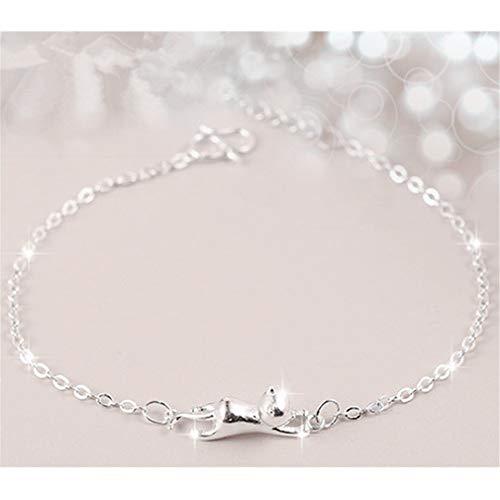 Naughty Kitty - Yunzee Naughty Cat Bracelet Cute Kitty Pendant Expandable Bracelet for Women