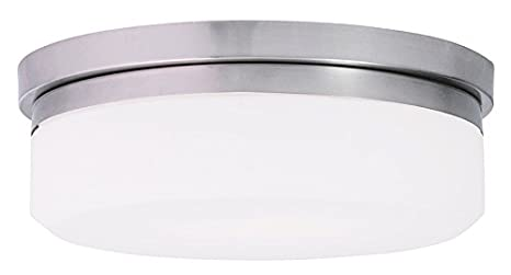 Amazon.com: livex iluminación 73943 Stratus 1 luz LED Flush ...