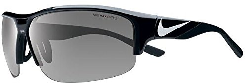 Nike EV0870-001 Golf X2 Sunglasses (One Size), Black/Metallic Silver, Grey - Glasses Men Nike