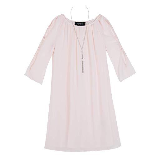 Amy Byer Girls' Big' 3/4 Sleeve Sheath Dress with Cold Shoulder, Garden Rose, -
