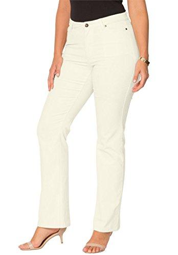 Ivory Corduroy (Roamans Women's Plus Size Bootcut Corduroys Ivory,22 W)