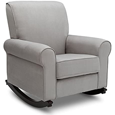Delta Furniture Rowen Upholstered Rocking Chair Dove Grey