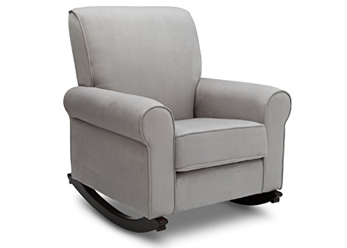 Delta Furniture Rowen Upholstered Rocking Chair, Dove Grey by Delta Furniture