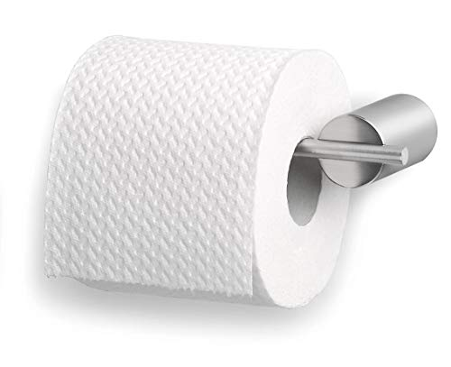 1, 1 - Pack Blomus 68517 Duo Brushed Stainless Steel Toilet Paper Holder,