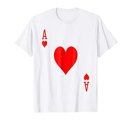 Poker Cards Halloween Group Costume T-Shirt, Ace of Hearts