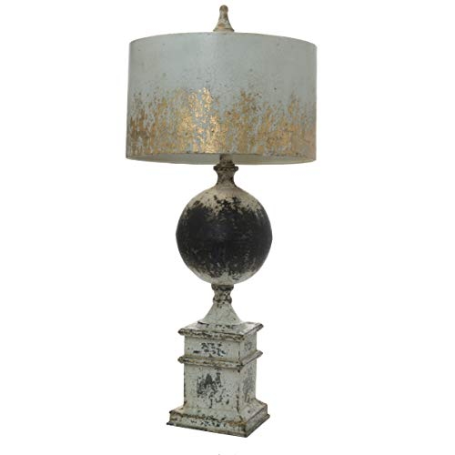 A&B Home Bellamy Table Lamp Antique White, Black