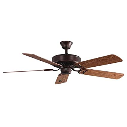 Harbor Breeze 52u0026quot; Classic Style Antique Bronze Ceiling Fan. Reversible  Blades Walnut / Cherry