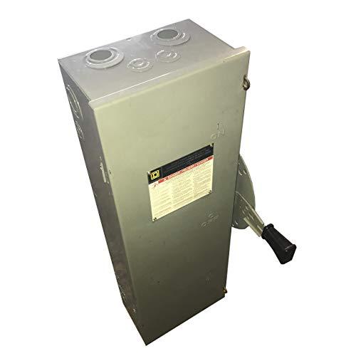 DTU361 Square D, 30 AMP 3 POLE Safety switch non fusible DT, Double throw 600VAC 30A 3P NEMA1