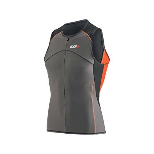 Louis Garneau Comp Sleeveless Jersey Grey/Orange, M - Men's Garneau Sleeveless Jersey