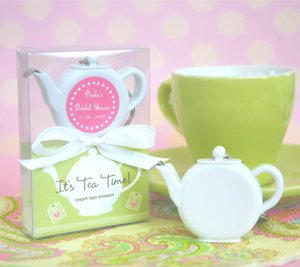 Measuring Tape Baby Shower Favor - It's Tea Time! Teapot Tape Measure - Baby Shower Gifts & Wedding Favors (Set of 48)