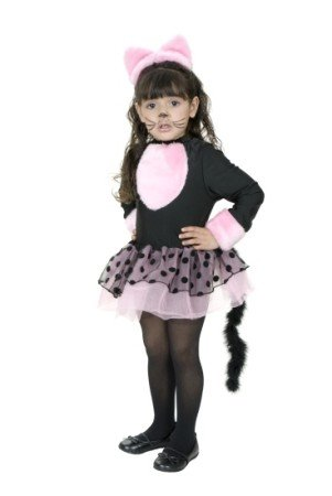 Toddler 2-4T - Miss Pretty Kitty Costume (Shoes/Makeup/Tights Not (Kitty Cat Halloween Costume Makeup)