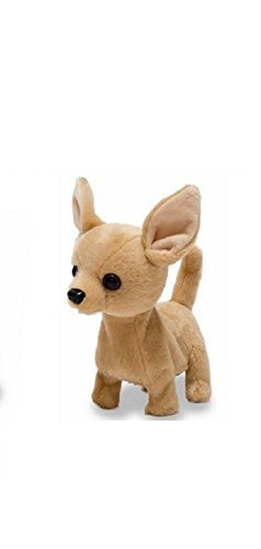 Cuddle Barn Animated Plush Toy Dog Lola The Chihuahua Barks & Wags Tail,6 Inches ()