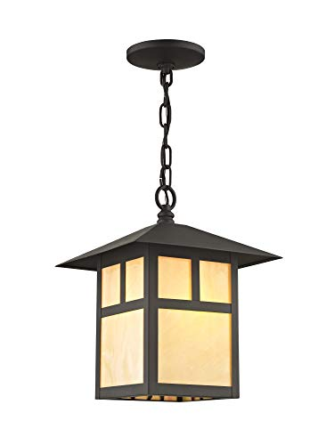 - Livex Lighting 2141 Montclair Mission 1 Light Outdoor Pendant, Bronze