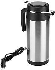 Elektrische waterkoker Qiilu waterkoker 24 V voor vrachtwagen, 1200 ml auto reizen waterkoker roestvrij staal mok snel koken voor thee koffie