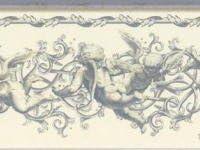 天使 壁紙ボーダー フライング エンジェル ライトグレー色