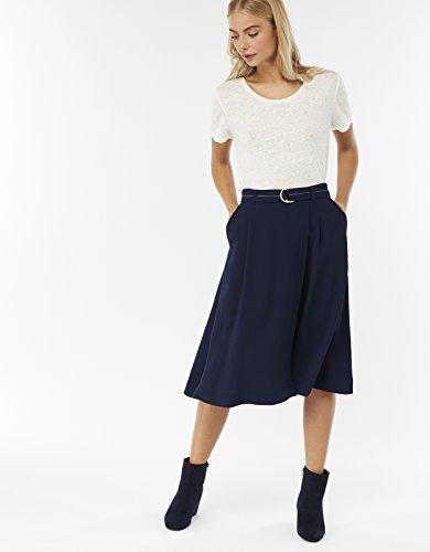 Bleu midi Femme Jupe Monsoon Coutures Marine Clara contrastes 5RxPxYFq