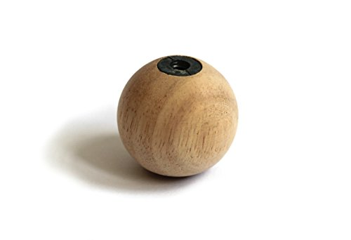 Simple Natural Wood Ball Shaped Lamp Finial - Stain or Paint for (Newel Ball Top)