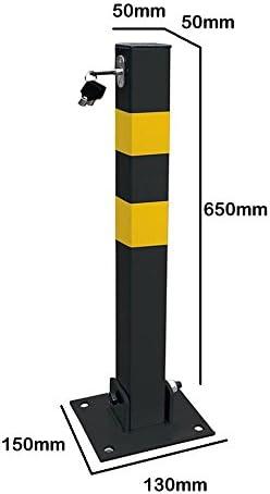 Mp Essentials Zusammenklappbare Quadratische Sicherheits Poller Für Zufahrten Hauseinfahrten Parkplätze Mit Schloss Schrauben Auto