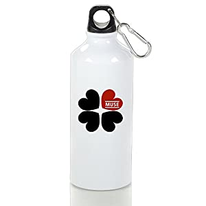LINNA- British Music Rock Band Unique Aluminum Sports Water Bottle - Metallic Finish With Carabiner Hook