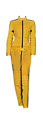 Mtxc Women's Cosplay The Bride Sport Suit Size X-Small Yellow