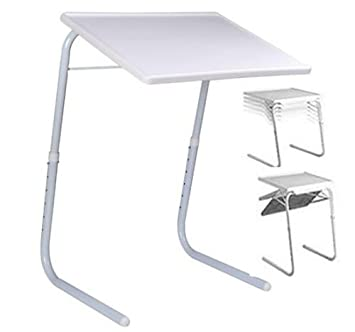 Amazing TABLE MATE II PORTABLE ADJUSTABLE FOLDING TABLE TV DINNER LAPTOP TRAY NEW
