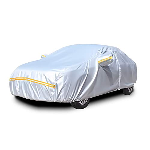 Car Covers Waterproof,Car Cover for Sedan 6 Layers Outdoor Protection Universal Full Cover with Zipper A0-3M(Fits Sedan up to 170