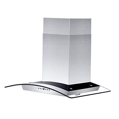 - Z Line KZ-36 Stainless Steel and Glass Range Hood, 36-Inch