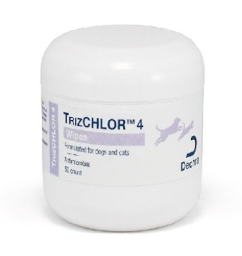 Dechra 50 Count TrizCHLOR 4 Pet Wipes
