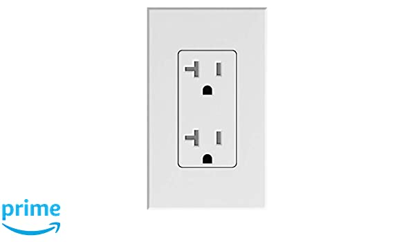 Amazon.com: Lutron Deep Back Cover Nova T Receptacle 20Amp White (NTR-20-WH): Electronics