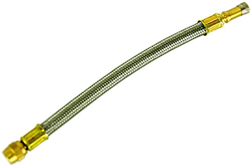 1 pezzi prolunga valvola in un metallo intrecciato –  lunghezza 210 mm della marca Stix/espansione/valvola/universale/officina/vulkaniesierung/prolunga/Transporter/bus/Camper/lunga/camion/per Zwilling bereifung/nuovo/Seher rub